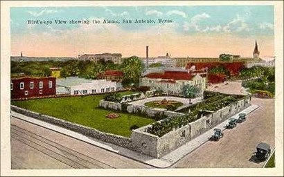 Alamo grounds, San Antonio, TX - Bird's eye view