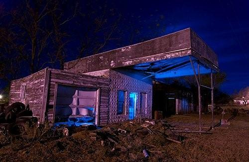 Abandoned Station in Texola, Route 66