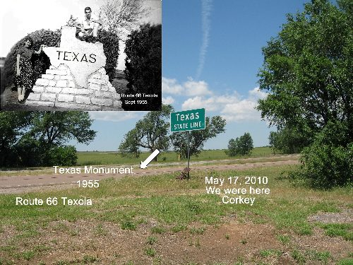 Texola Route 66 Texas Marker Location