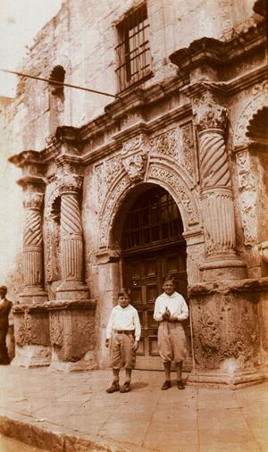 Boys at the Alamo, 1930s old photo