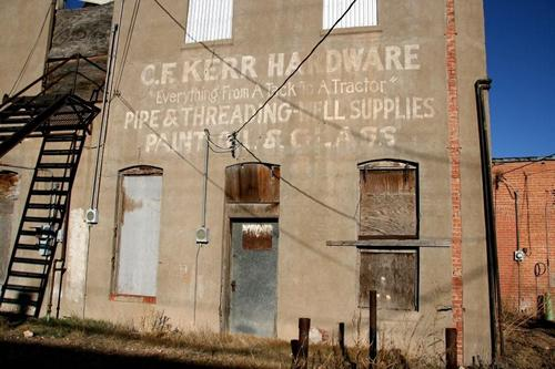 C.F. Kerr Hardward ghost sign, Hereford Texas