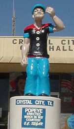 Popeye statue in Crystal City