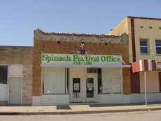 Spinach Festival Office in Crystal City, Texas