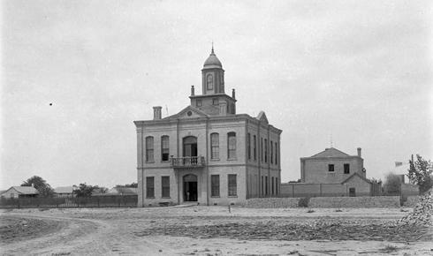 1886 Hidalgo County Courthouse, Hidalgo Texas old photo