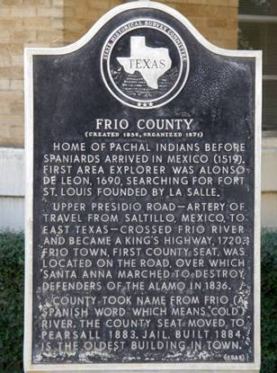 TX - Frio County historical marker