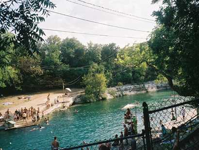 Barton Springs pool, Austin Texas, summer