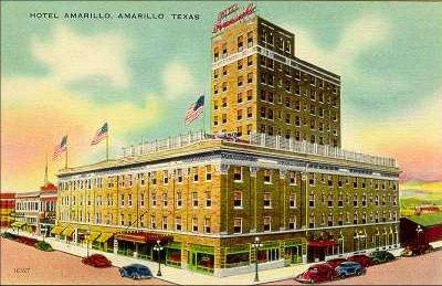 Hotel Amarillo Texas Old Post Card