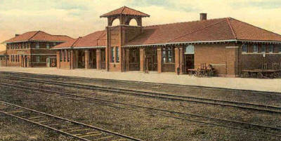 Amarillo Texas - Fort Worth & Denver RR Depot, 1910