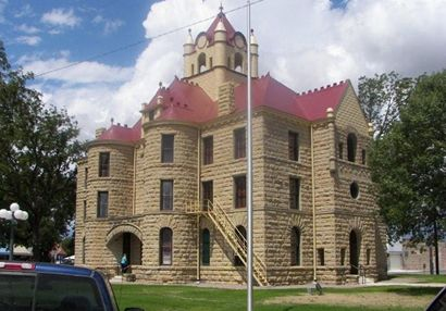 Red Mcculloch County Courthouse Brady Texas