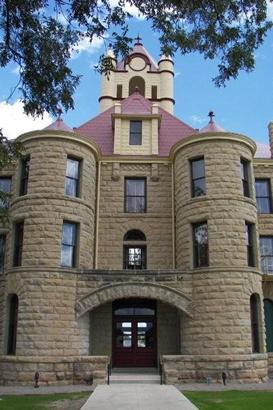 Mcculloch County Courthouse Entrance Brady Texas
