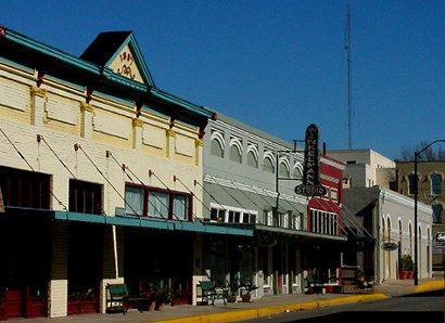 Brenham Texas Street Scene