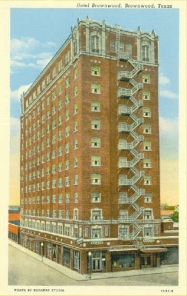 Brownwood Texas Hotel Old Post Card