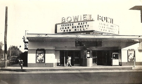 Brownwood Tx Bowie Theater Center Ave 1945