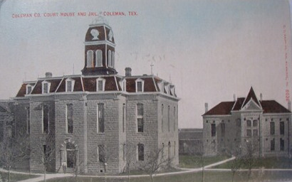 Tx 1884 Coleman County Courthouse And Jail