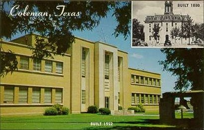 Tx Coleman County Courthouse Ca 1960 Postcard