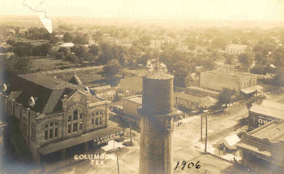 Columbus Texas Bird S Eye View 1906 Vintage Photo