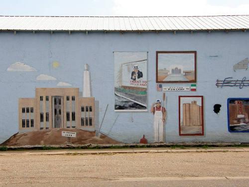 tx Historical Wall Mural