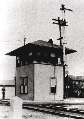 Railroad Interlocking Tower 3 in Flatonia, Texas