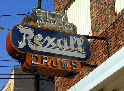 Rexall Drugs  neon sign, Grand Saline Texas