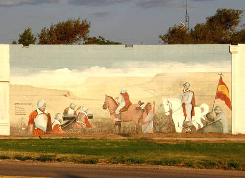 Hale Center Tx Mural - Coronado On The High Plains