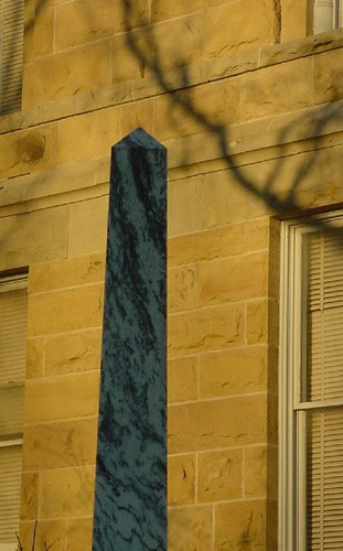 Hallettsville TX - 1897 Lavaca County Courthouse Obelisk