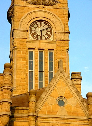 Hallettsville TX - 1897 Lavaca County Courthouse clock tower