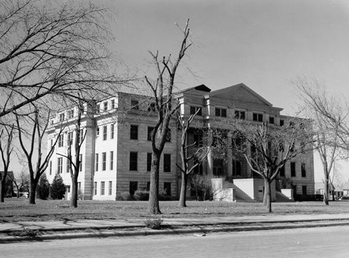 Deaf Smith County Courthouse Hereford Texas Vintage Photo
