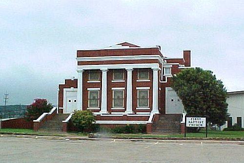 First Baptist Church in Santa Anna, Texas