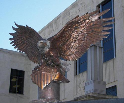 Seguin TX Guadalupe CountyCourthouse Veterans Memorial Eagle