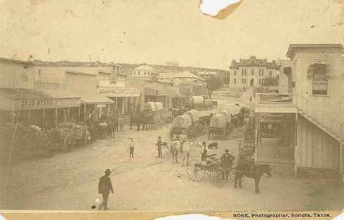 Sonora Texas Downtown In 1898