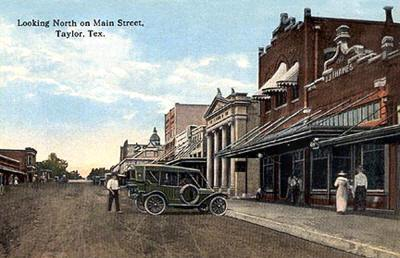 Taylor Texas Main Street Old Postcard