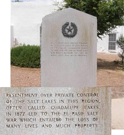 San Elizario Tx - Salt Lake War Centennial Marker