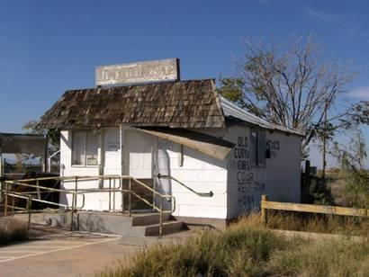 Salt Flat Texas - Closed old Cafe