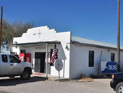 Salt Flat Texas - Salt Flat Cafe bus service