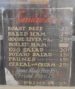 Salt Flat Texas - Salt Flat Cafe old menu