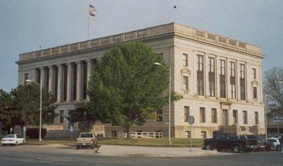 1928 Wilbarger County Courthouse In The Morning Vernon Texas