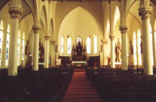 St. Michaels Catholic Church sanctuary, Weimar, Texas