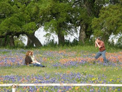 Independence TX Old Baylor Park Family amid Wildflower