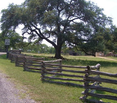 wooden farm fence. LBJ State Park Old WooWooden Farm Fence