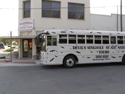 Rocksprings Tx Devil S Sinkhole Visitors Center Tour Bus