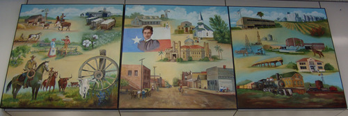 Alice TX Post Office Mural: South Texas Panarama