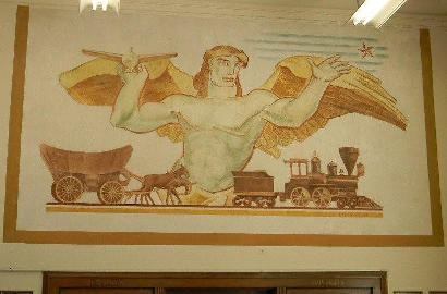 Baytown TX Post Office Mural -  'Texas' by Barse Miller, 1938
