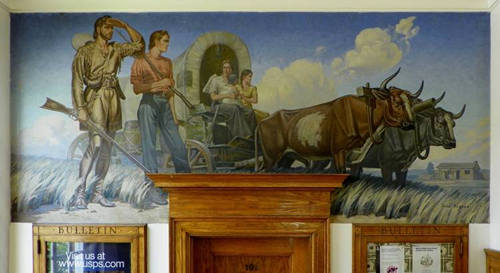 Mart Texas Wpa Mural Mclennan Looking For A Home By Jose