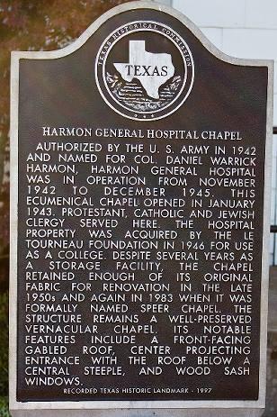 Speer Chapel Longview Tx Recorded Texas Historic Landmark