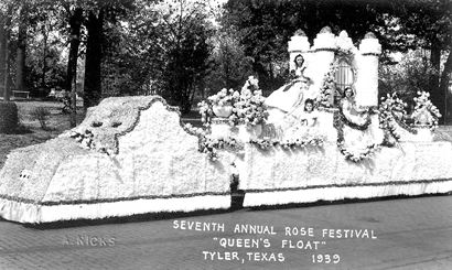"Tyler TX 1939 Rose Festival ""Queen's Float"""