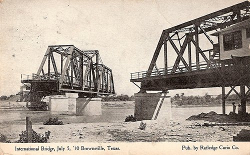Brownsville, Texas, International Bridge, swing bridge opened
