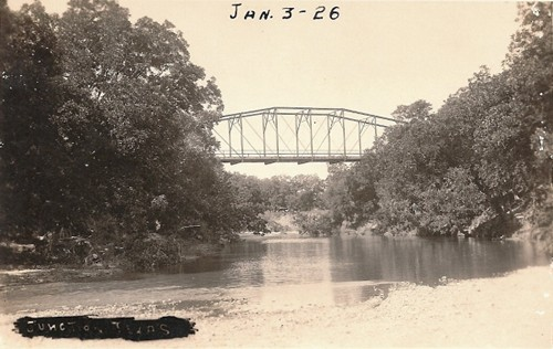 Bridge at Junction, Texas old photo