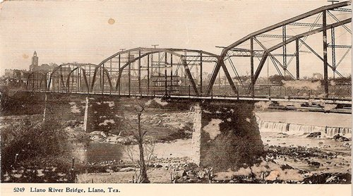 Llano TX, Llano River Bridge