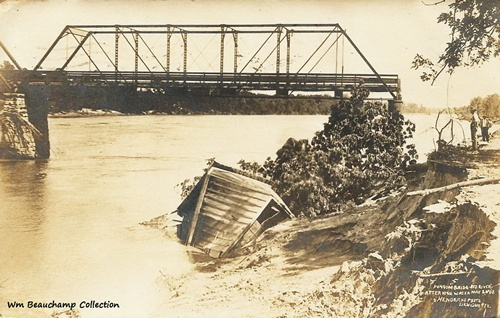 Denison, TX - Wagon Bridge, Red River, After High Water May 26, 1908