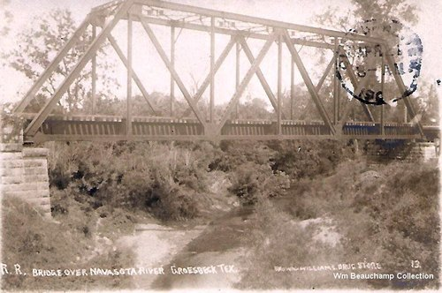 Railroad Bridge over Navasota River near Groesbeck, Texas